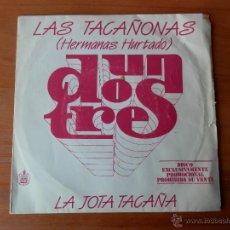 Discos de vinilo: LA JOTA TACAÑA. HIMNO DE SALVACIÓN NACIONAL - LAS TACAÑONAS (HERMANAS HURTADO). Lote 35329457