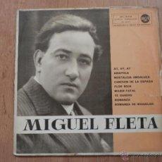 Discos de vinilo: MIGUEL FLETA - MIGUEL FLETA CON ORQUESTA. Lote 35530742