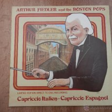 Discos de vinilo: CAPRICCIO ITALIEN. CAPRICCIO ESPAGNOL - ARTHUR FIEDLER AND THE BOSTON POPS. Lote 35664412