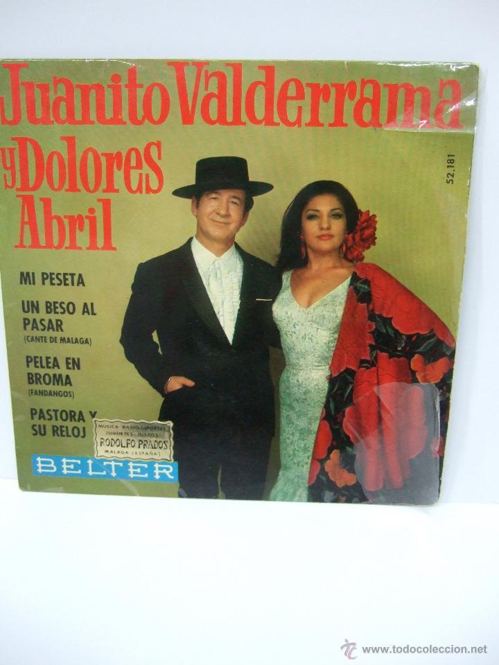 JUANITO VALDERRAMA Y DOLORES ABRIL - SINGLE VINILO - 1968 - MI PESETA Y OTRAS CANCIONES (Música - Discos - Singles Vinilo - Otros estilos)