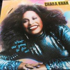 Discos de vinilo: CHAKA KHAN. WHAT CHA GONNA DO FOR ME. Lote 40522110