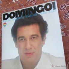 Dischi in vinile: LP DE PLACIDO DOMINGO-INTERPRETANDO A PUCCINI-DONIZETTI- MASSENET- VERDI- CILEA- ¡¡¡¡¡NUEVO¡¡¡¡¡. Lote 40524809