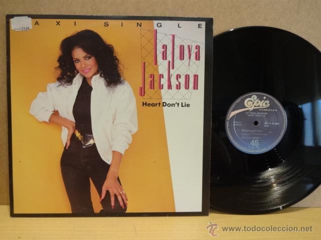 LA TOYA JACKSON. HEART DON'T LIE. MAXI SINGLE - EPIC - 1984. CALIDAD LUJO. ****/**** (Música - Discos de Vinilo - Maxi Singles - Funk, Soul y Black Music)