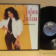 Discos de vinilo: LA TOYA JACKSON. HEART DON'T LIE. MAXI SINGLE - EPIC - 1984. CALIDAD LUJO. ****/****. Lote 40527103