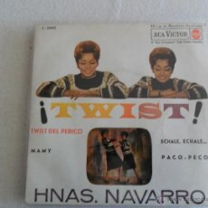 Discos de vinilo: HNAS. NAVARRO - TWIST - TWIST DEL PERICO + 3 EP 1962. Lote 40529396