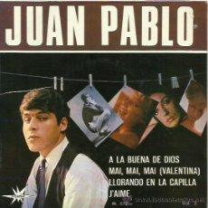 Discos de vinilo: JUAN PABLO EP SELLO MARFER AÑO 1966. Lote 40529444