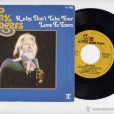 Discos de vinilo: KENNY ROGERS SINGLE 45 RUBY DON´T TAKE YOUR LOVE TO TOWN REPRISE. Lote 40537334