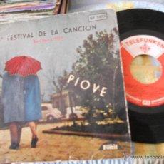 EP 9º FESTIVAL SAN REMO 1959-PIOVE +3-COMPARTIDO MODUGNO...