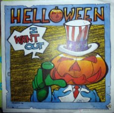 Disques de vinyle: HELLOWEEN. I WANT OUT/ DON'T RUN FOR COVER. NOISE INTERNATIONAL, GERMANY 1988 SINGLE. Lote 40546447