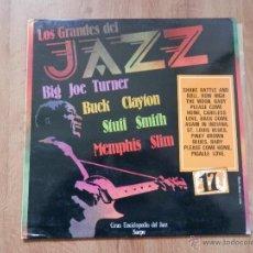 Disques de vinyle: LOS GRANDES DEL JAZZ. GRAN ENCICLOPEDIA DEL JAZZ. Nº 17 - BIG JOE TURNER. BUCK CLAYTON. STUFF SMITH.. Lote 36136670