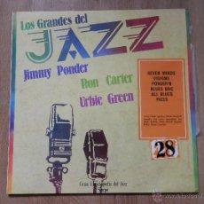 Disques de vinyle: LOS GRANDES DEL JAZZ. GRAN ENCICLOPEDIA DEL JAZZ. Nº 28 - JIMMY PONDER. RON CARTER. URBIE GREEN. Lote 36136705