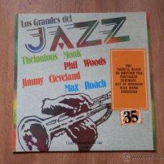 Discos de vinilo: LOS GRANDES DEL JAZZ. GRAN ENCICLOPEDIA DEL JAZZ. Nº 35 - THELONIOUS MONK. PHIL WOODS. JIMMY CLEVELA. Lote 36136733