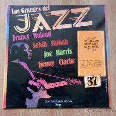 Disques de vinyle: LOS GRANDES DEL JAZZ. GRAN ENCICLOPEDIA DEL JAZZ. Nº 37 - FRANCY BOLAND. SAHIB SHILAB. JOE HARRIS. K. Lote 36136735