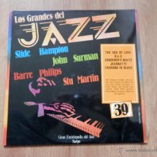 Disques de vinyle: LOS GRANDES DEL JAZZ. GRAN ENCICLOPEDIA DEL JAZZ. Nº 39 - SLIDE HAMPTON. JOHN SURMAN. BARRE PHILIPS.. Lote 36136752