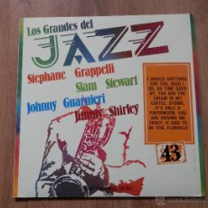 Disques de vinyle: LOS GRANDES DEL JAZZ. GRAN ENCICLOPEDIA DEL JAZZ. Nº 43 - STEPHANE GRAPPELLI. SLAM STEWART. JOHNNY G. Lote 36136782