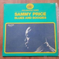 Discos de vinilo: BLUES AND BOOGIES - SAMMY PRICE. Lote 36137178