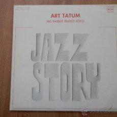 Discos de vinilo: ART TATUM HIS RAREST PIANO SOLO. JAZZ STORY - ART TATUM. Lote 36333483