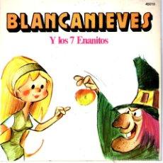 Discos de vinilo: BLANCANIEVES Y LOS 7 ENANITOS. Lote 40563271