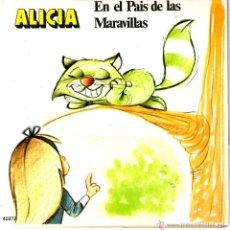 Discos de vinilo: ALICIA EN EL PAIS DE LAS MARAVILLAS. Lote 40563798