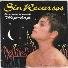 Discos de vinilo: SIN RECURSOS - EN MI MANO SE ESCONDIÓ (HIP-HOP), EMI 1992, PROMOCIONAL. Lote 40571289