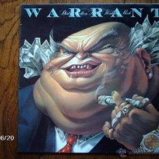 Discos de vinilo: WARRANT - DIRTY ROTTEN FILTHY STINKING RICH . Lote 40573297