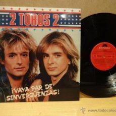 Disques de vinyle: 2 TOROS 2. VAYA PAR DE SINVERGÜENZAS. LP - POLYDOR - 1987. BUENA CALIDAD. ***/***. Lote 46686125
