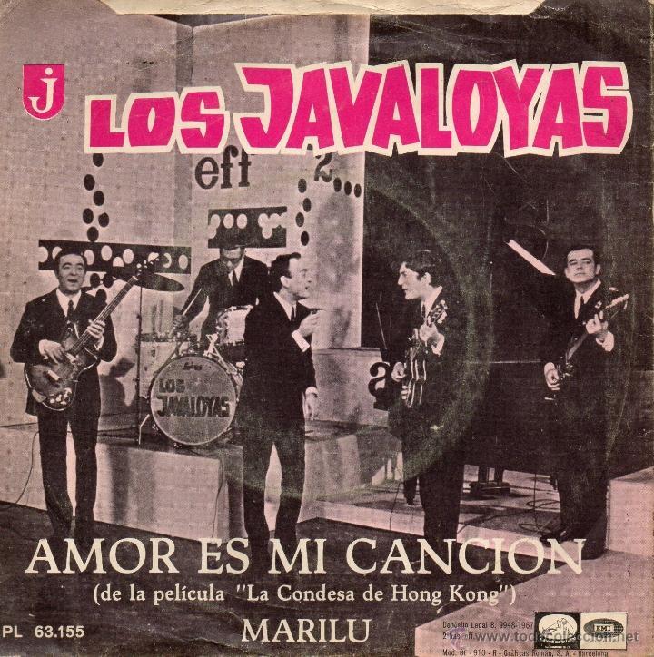 Discos de vinilo: JAVALOYAS, SG, AMOR ES MI CANCION + 1, AÑO 1967 - Foto 2 - 40595725