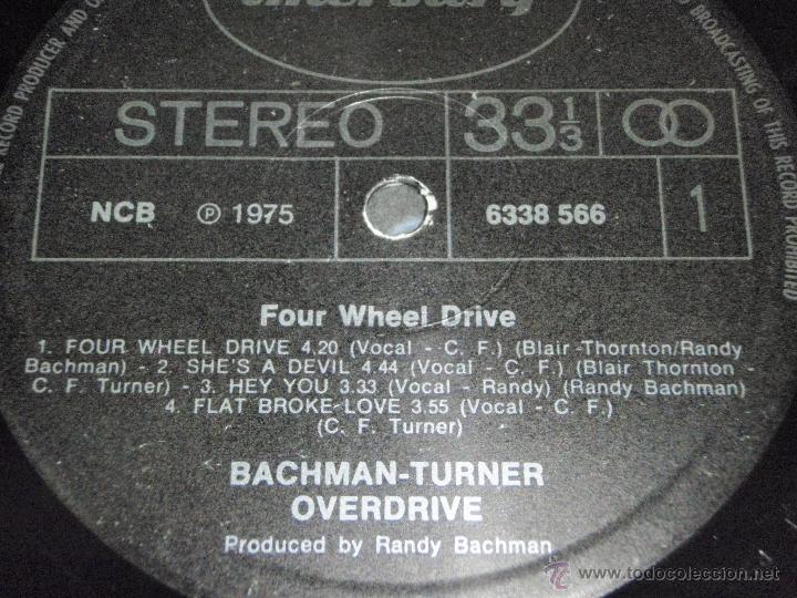 Discos de vinilo: BACHMAN TURNER OVERDRIVE ( FOUR WHEEL DRIVE ) USA - 1975 LP33 MERCURY - Foto 4 - 40599472