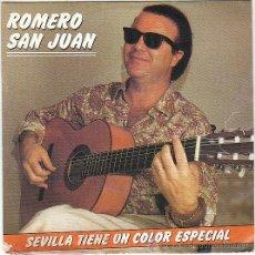 Discos de vinilo: ROMERO SAN JUAN - SEVILLA TIENE UN COLOR ESPECIAL / TRIANEANDO, EMI 1990. Lote 40620207