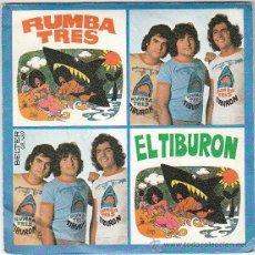 Disques de vinyle: RUMBA TRES - EL TIBURON - YA SE QUE NO ME QUIERES, BELTER 1966. Lote 40620427