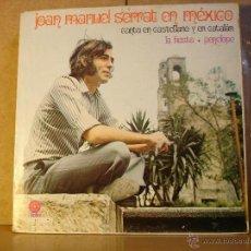 Discos de vinilo: JOAN MANUEL SERRAT - EN MÉXICO. CANTA EN CASTELLANO Y CATALAN - CAPITOL SLEM-226 - 1970 - MUY RARO. Lote 40624641