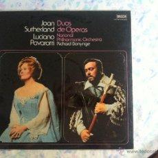 Discos de vinilo: LP JOAN SUTHERLAND-LUCIANO PAVAROTTI-DUOS DE OPERA. Lote 40631291