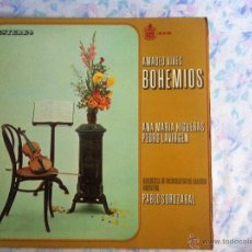 Discos de vinilo: LP AMADEO VIVES-BOHEMIOS. Lote 40631347