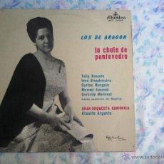 Discos de vinilo: LP LOS DE ARAGON-LA CHULA DE PONTEVEDRA. Lote 40631789
