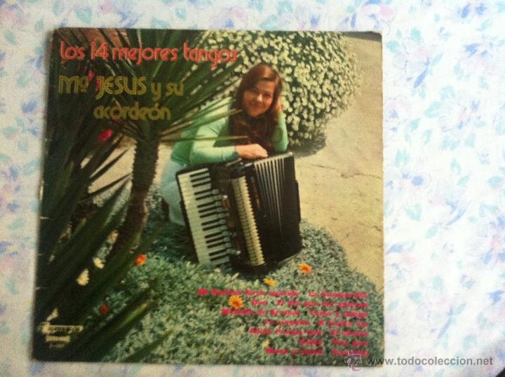 LP MARIA JESUS Y SU ACORDEON-LOS 14 MEJORES TANGOS (Música - Discos - LP Vinilo - Solistas Españoles de los 70 a la actualidad)