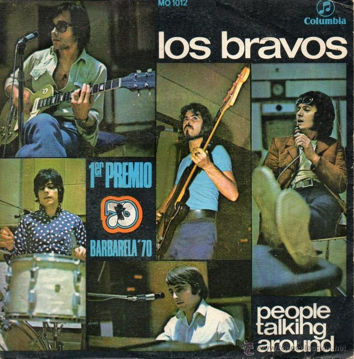 Discos de vinilo: LOS BRAVOS, SG, PEOPLE TALKING AROUND + 1, AÑO 1970 - Foto 1 - 40632777