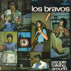 Discos de vinilo: BRAVOS, LOS, SG, PEOPLE TALKING AROUND + 1, AÑO 1970. Lote 40632777