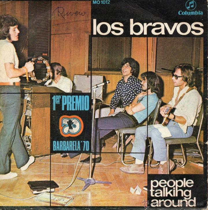 Discos de vinilo: LOS BRAVOS, SG, PEOPLE TALKING AROUND + 1, AÑO 1970 - Foto 2 - 40632777