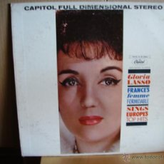 Discos de vinilo: GLORIA LASSO ----- FRANCE´S FEMME FORMIDABLE SINGS EUROPE´S TOP HITS. Lote 40633834