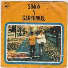 Discos de vinilo: SIMON Y GARFUNKEL - CECILIA / EL ÚNICO MUCHACHO QUE.. . SINGLE DE DEL SELLO CBS DEL AÑO 1970. Lote 40635351