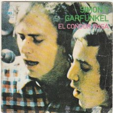 Discos de vinilo: SIMON Y GARFUNKEL - EL CONDOR PASA - ¿POR QUÉ ME ESCRIBES? SINGLE DE DEL SELLO CBS DEL AÑO 1970. Lote 40635386
