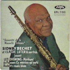 Discos de vinilo: SIDNEY BECHET Y CLAUDE LUTER Y SU ORQUESTA, DISCOS VOGUE DEL AÑO 1954. Lote 40635800