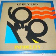 Discos de vinilo: SIMPLY RED / INFIDELITY / LOVE FIRE / LADY GODIVA 1987 ( RARO MAXI 3 TEMAS !! IMPECABLE. Lote 40636846