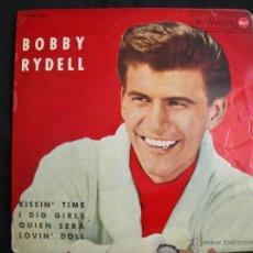 Discos de vinilo: EP BOBBY RYDELL // KISSIN´ TIME + 3 // AÑO 1963. Lote 40643833