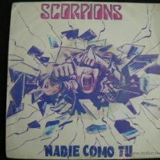 Discos de vinilo: SCORPIONS // NO ONE LIKE YOU (NADIE COMO TU) // BLACKOUT. Lote 40644206