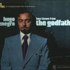 Discos de vinilo: LP HUGO MONTENEGRO : THE GODFATHER ( QUADRADISC) TEMAS DE NINO ROTA, BEATLES, BACH, NILSSON, ETC . Lote 40645447