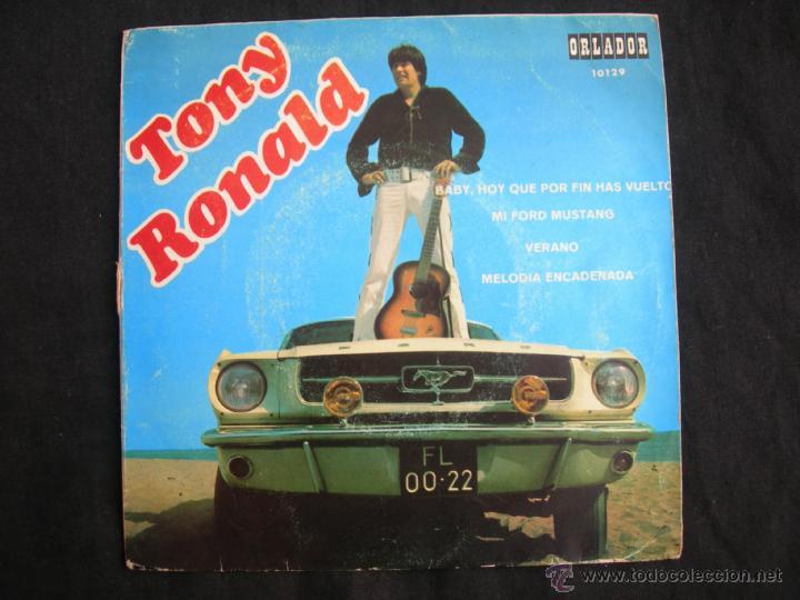 TONY RONALD // MI FORD MUSTANG + 3 // CIRCULO DE LECTORE3S (Música - Discos de Vinilo - EPs - Solistas Españoles de los 50 y 60)
