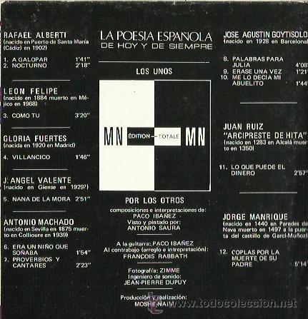 Discos de vinilo: PACO IBAÑEZ LP SELLO POLYDOR AÑO 1970 - Foto 2 - 40651980