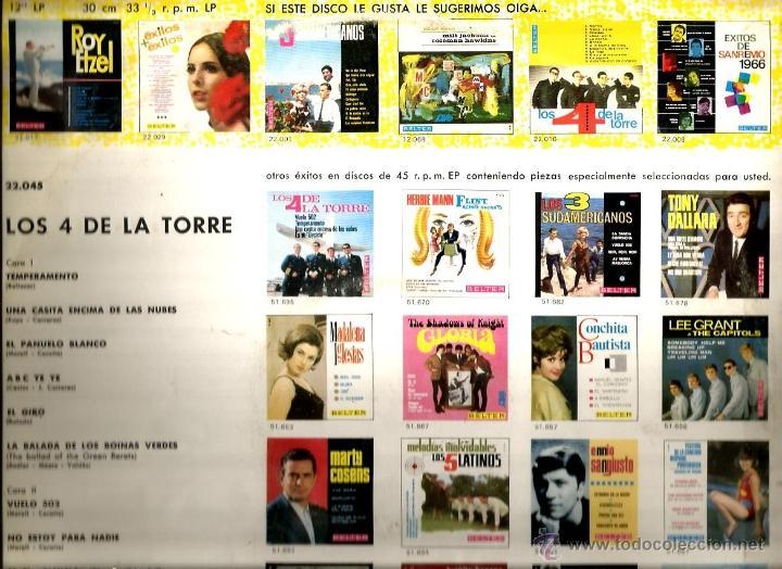 Discos de vinilo: LP LOS 4 DE LA TORRE ( EDITADO EN 1966) - Foto 2 - 40658524