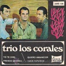 Discos de vinilo: TRÍO LOS CORALES (EP DE 1968). Lote 40663080